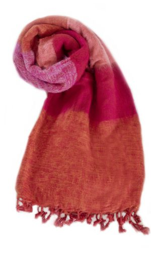 Nepal Schal Orange Cyclamen aus yakwolle - Online Kaufen - Shawls4you.nl