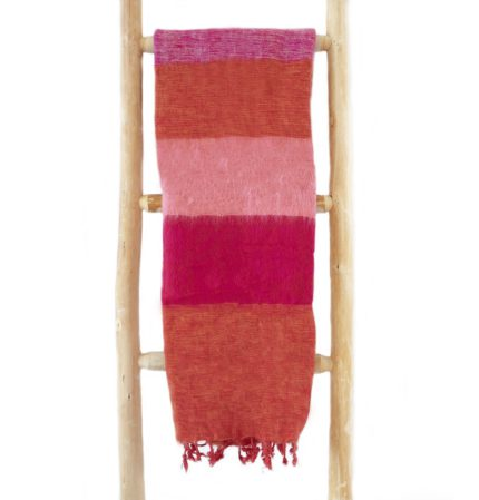 Nepal Schal Orange Rot Rose Cyclamen aus yakwolle – Online Kaufen – Shawls4you.nl