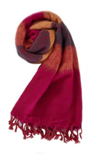 Nepal Schal Cyclamen Orange aus yakwolle - Online Kaufen - Shawls4you.nl