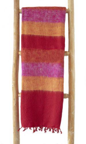 Nepal Schal Rot Gelb Rose aus yakwolle - Online Kaufen - Shawls4you.nl