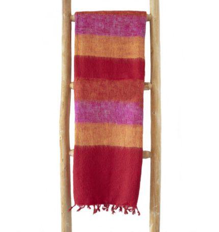 Nepal Schal Rot Gelb Rose aus yakwolle – Online Kaufen – Shawls4you.nl