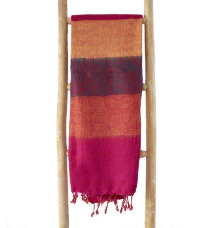Nepal Schal Rose Orange Dunkel aus yakwolle – Online Kaufen – Shawls4you.de