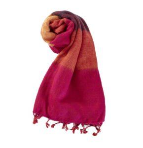 Nepal Schal Rose Orange Dunkel aus yakwolle - Online Kaufen - Shawls4you.de