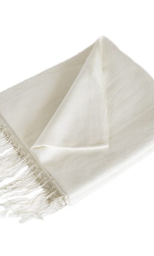 Pashmina Gebrochenes Weiß | fair-trade | online bestellen |Shawls4you.de