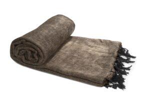 Decke havanna braun | fairtrade | Nepal | shawls4you.de