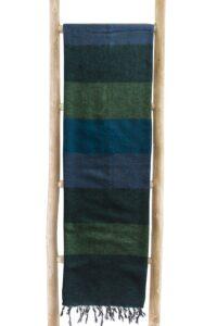 Decke grun gestreift | fairtrade | Nepal | shawls4you.de